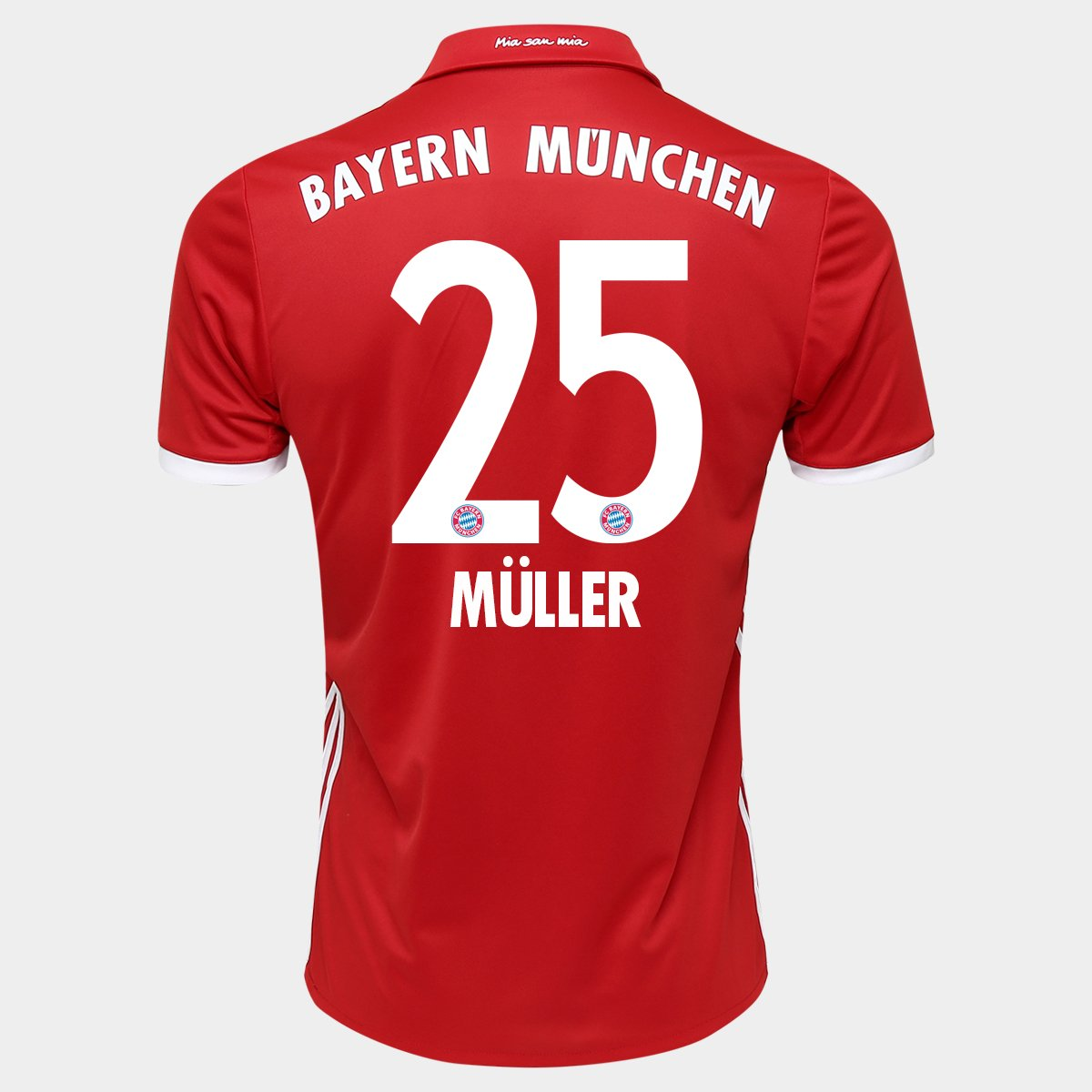 e9e55c716f Camisa Adidas Bayern De Munique Home 16/17 Nº 25 - Müller | Netshoes