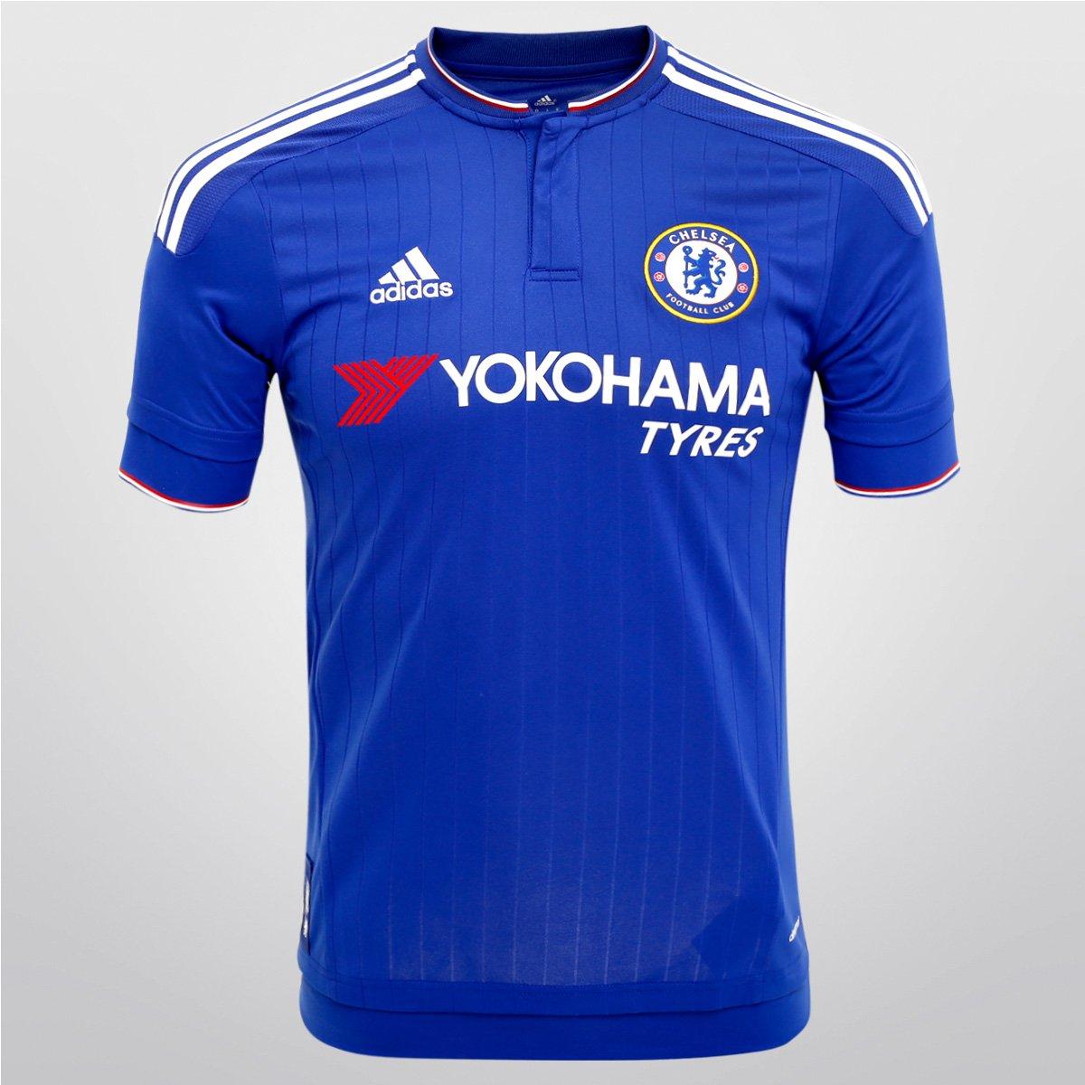 566c2fe90635c Camisa Adidas Chelsea Home 15/16 s/nº | Netshoes