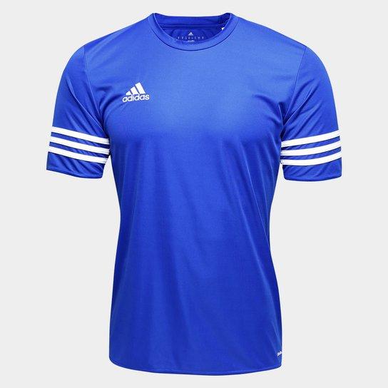 Aja Petrificar Cartero  Camisa Adidas Entrada 14 Masculina - Azul Royal e Branco | Netshoes