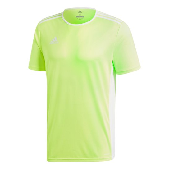 Camisa Adidas Entrada 18 Masculina - Amarelo+Branco