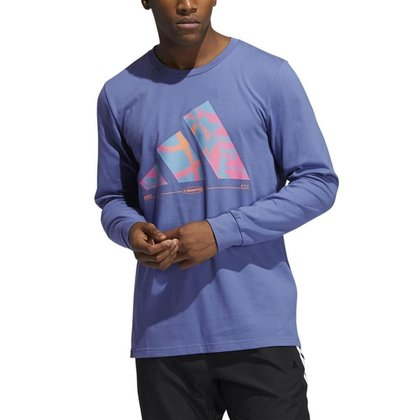 Camisa Adidas Estampada Hoops Manga Longa Masculi