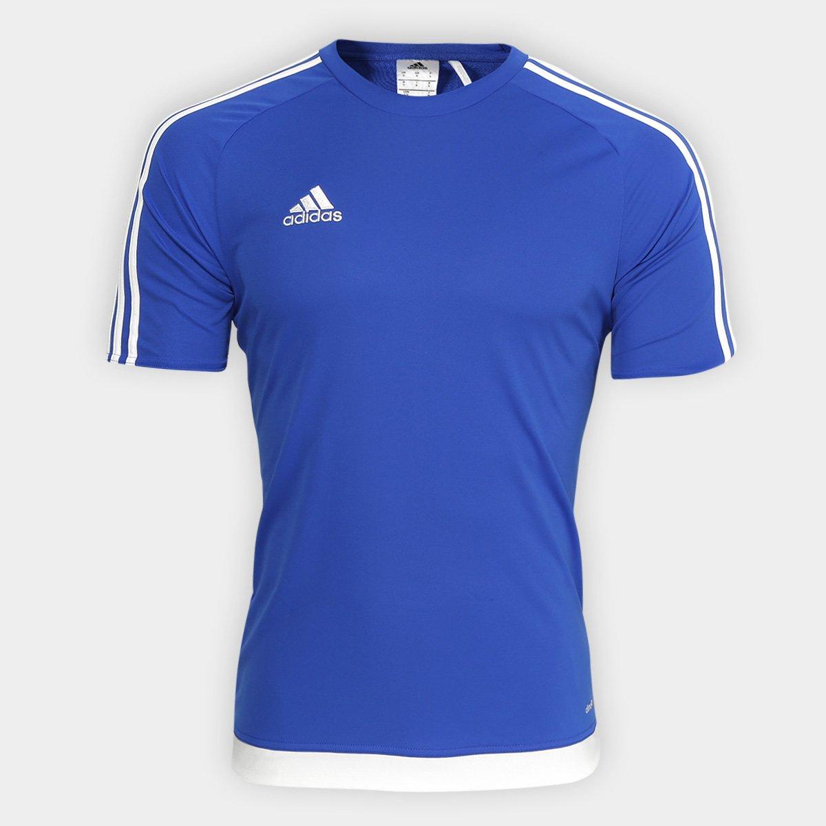 a740f3a8d6dd7 Camisa Adidas Estro 15 Masculina - Azul - Compre Agora