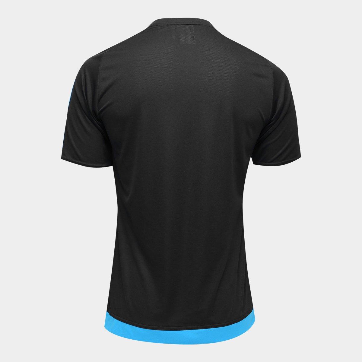 Camisa Adidas Estro 15 Masculina - Preto e Azul Turquesa - Compre ... f3ac0afcfce57