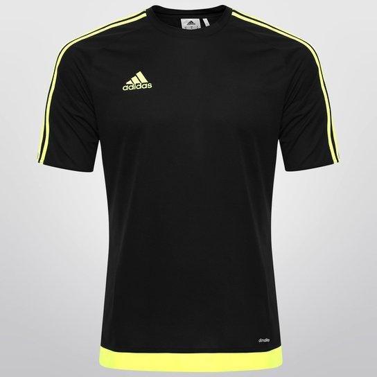 Camisa Adidas Estro 15 Masculina - Preto+Verde Limão