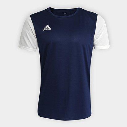 6cdddb03000e5 Camisa Adidas Estro 19 Masculina - Azul e Branco - Compre Agora ...