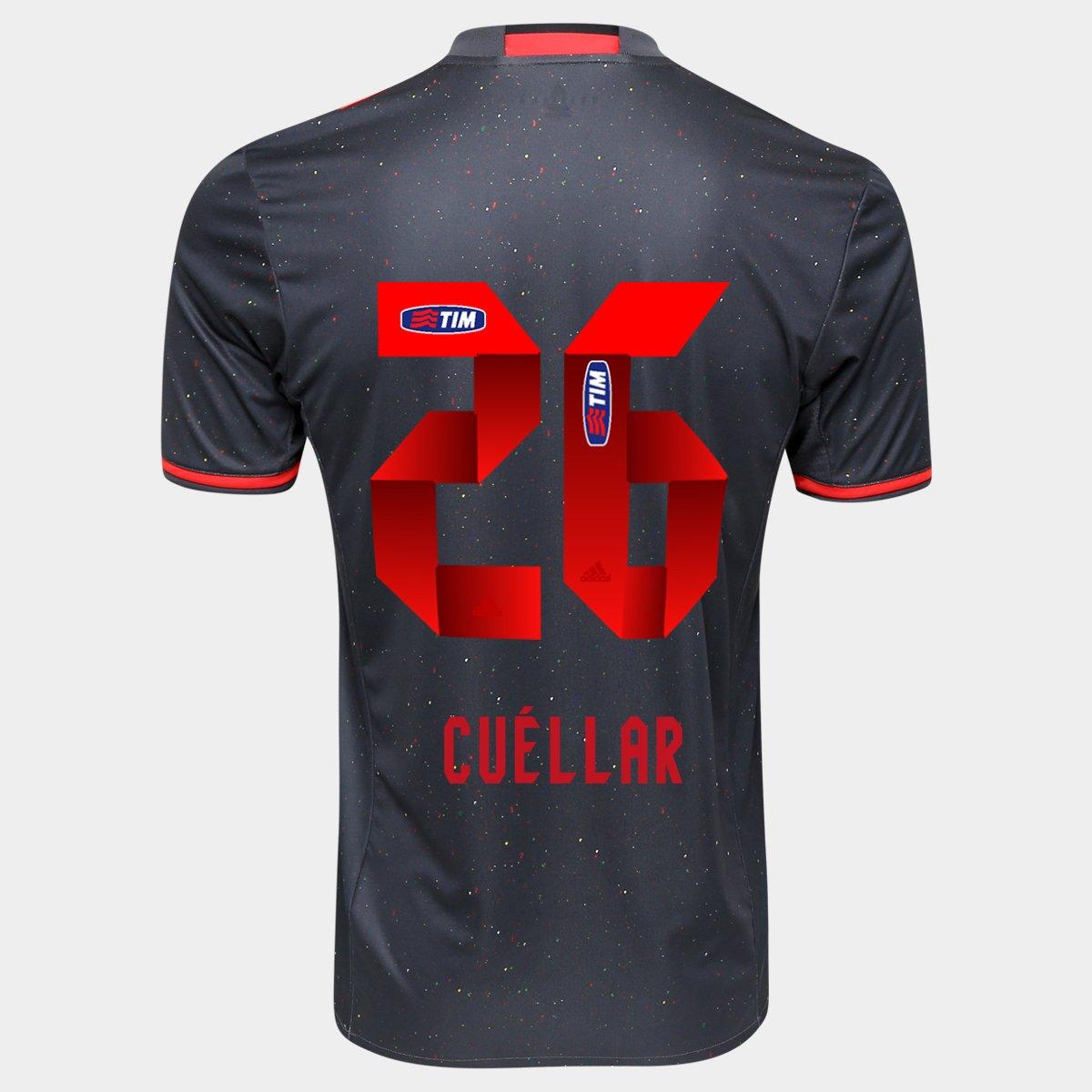 Camisa Adidas Flamengo Especial 2016 nº 26 - Cuéllar - Compre Agora ... 212c3a814cb1a