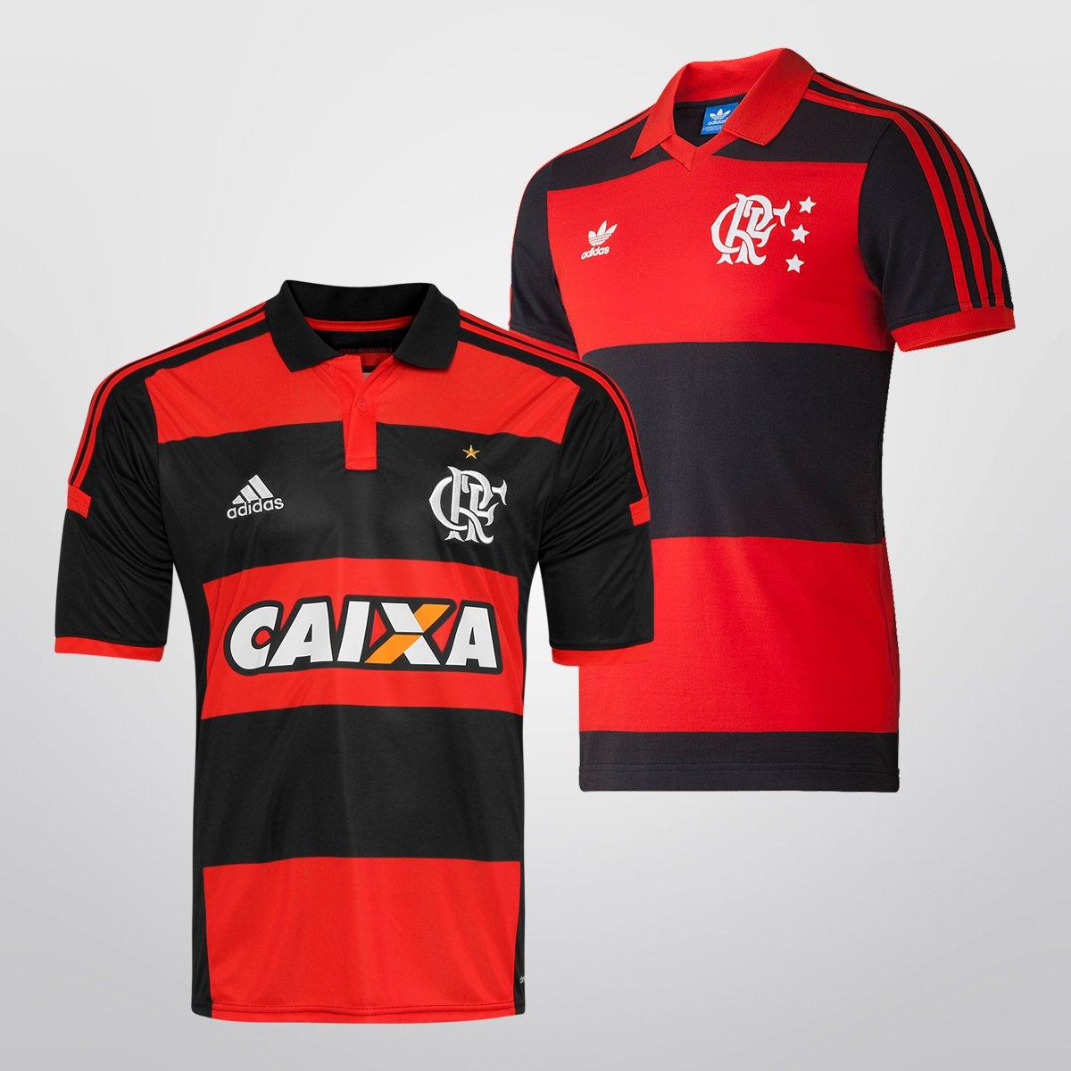 Camisa Adidas Flamengo I 14 15 + Camisa Retrô - Compre Agora  00bd35f54cc6e