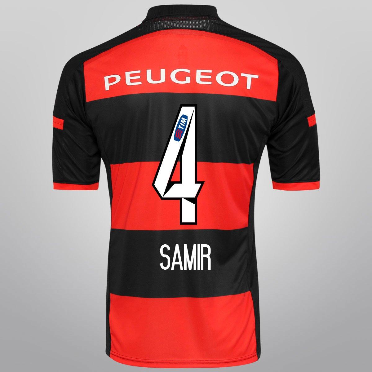 Camisa Adidas Flamengo I 14 15 nº 4 - Samir - Compre Agora  677cbe08a28