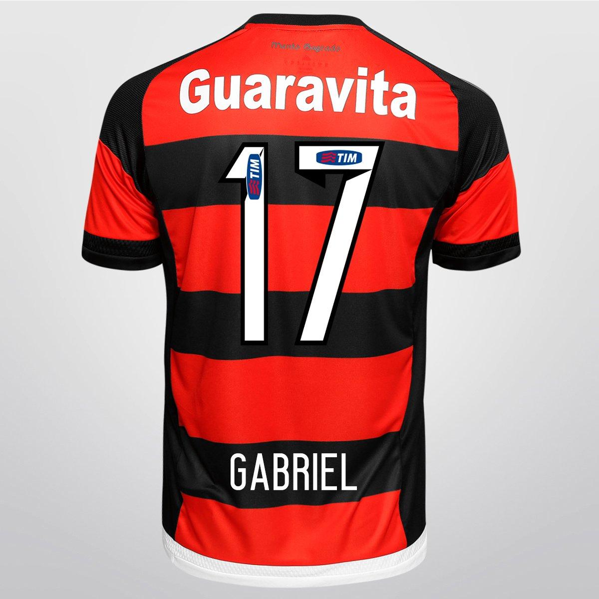 Camisa Adidas Flamengo I 15 16 nº 17 - Gabriel - Compre Agora  b2ca3904427bd
