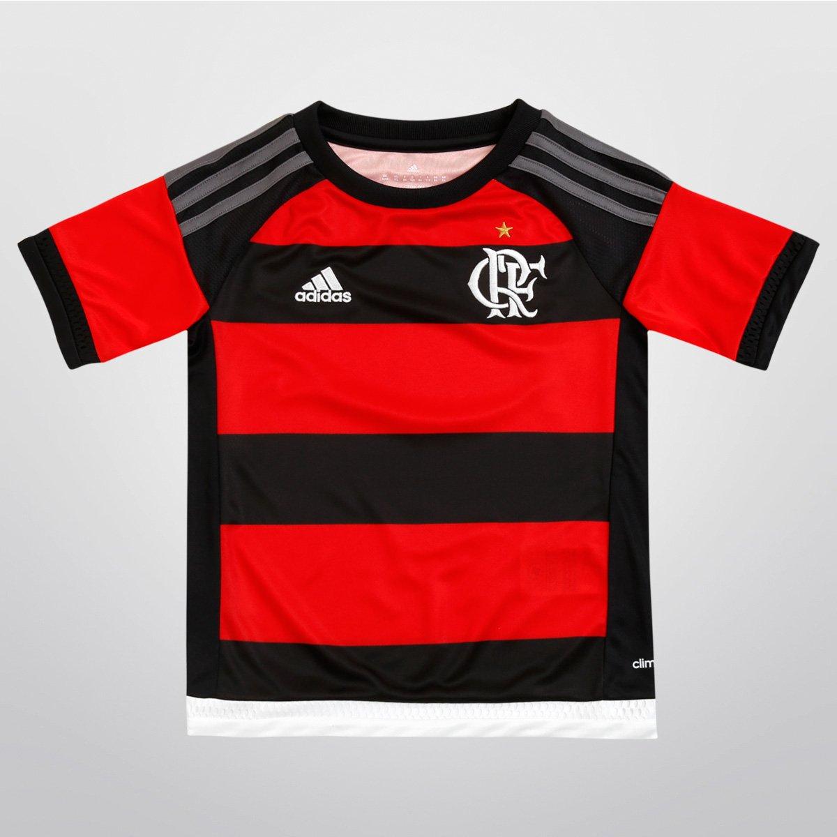 Camisa Adidas Flamengo I 15 16 s nº Infantil - Compre Agora  45bd50ff200e1