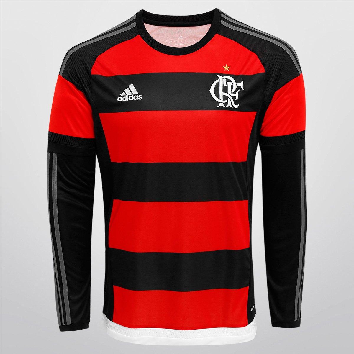 Camisa Adidas Flamengo I 15 16 s nº M L - Compre Agora  14c1dec7600e5