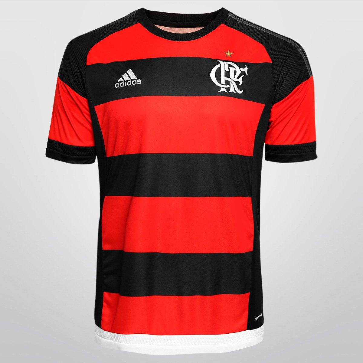 Camisa Adidas Flamengo I 15 16 s n° - Compre Agora  aa352fdd9af