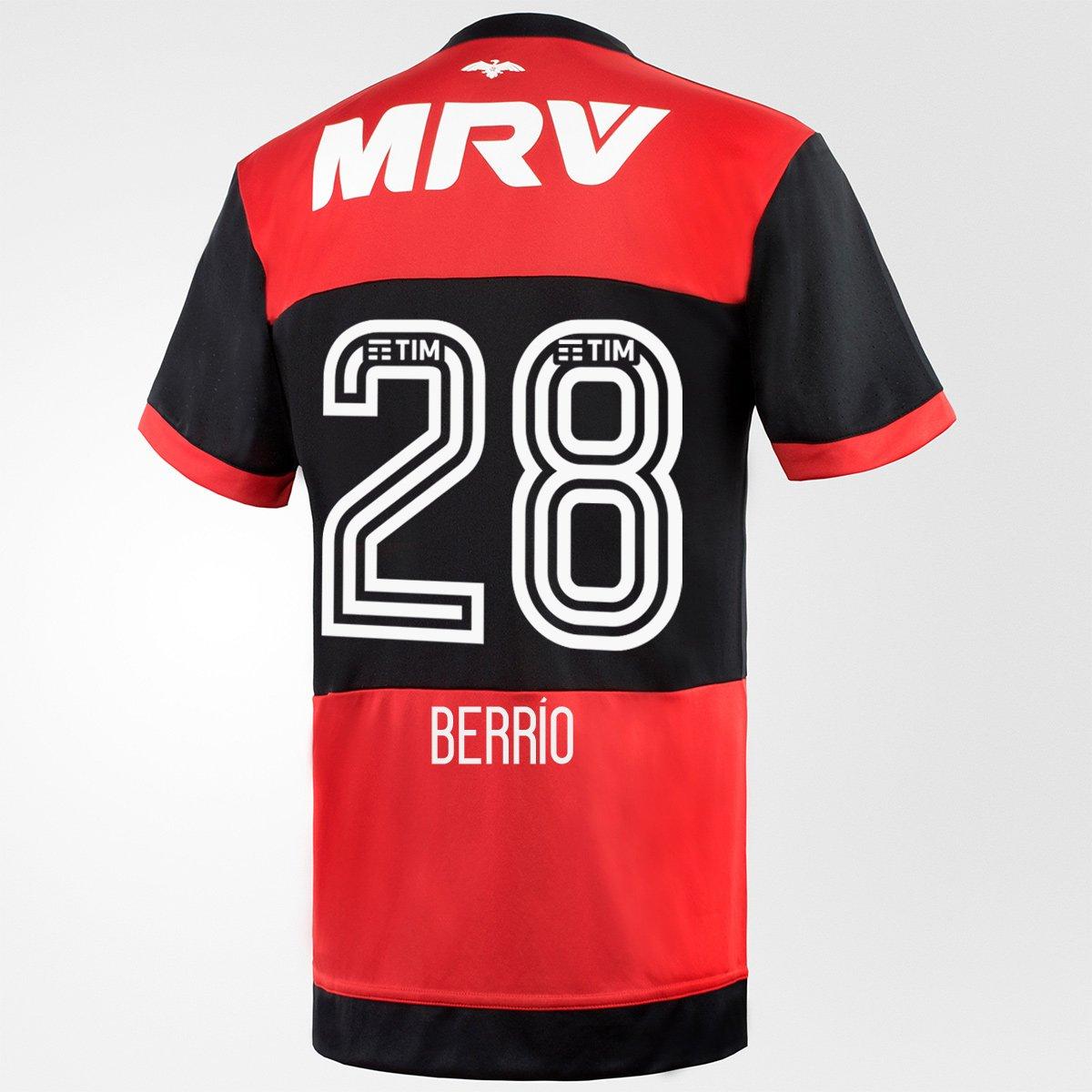 Camisa Adidas Flamengo I 17 18 nº 28 - Berrío - Compre Agora  77b1fd139efb3