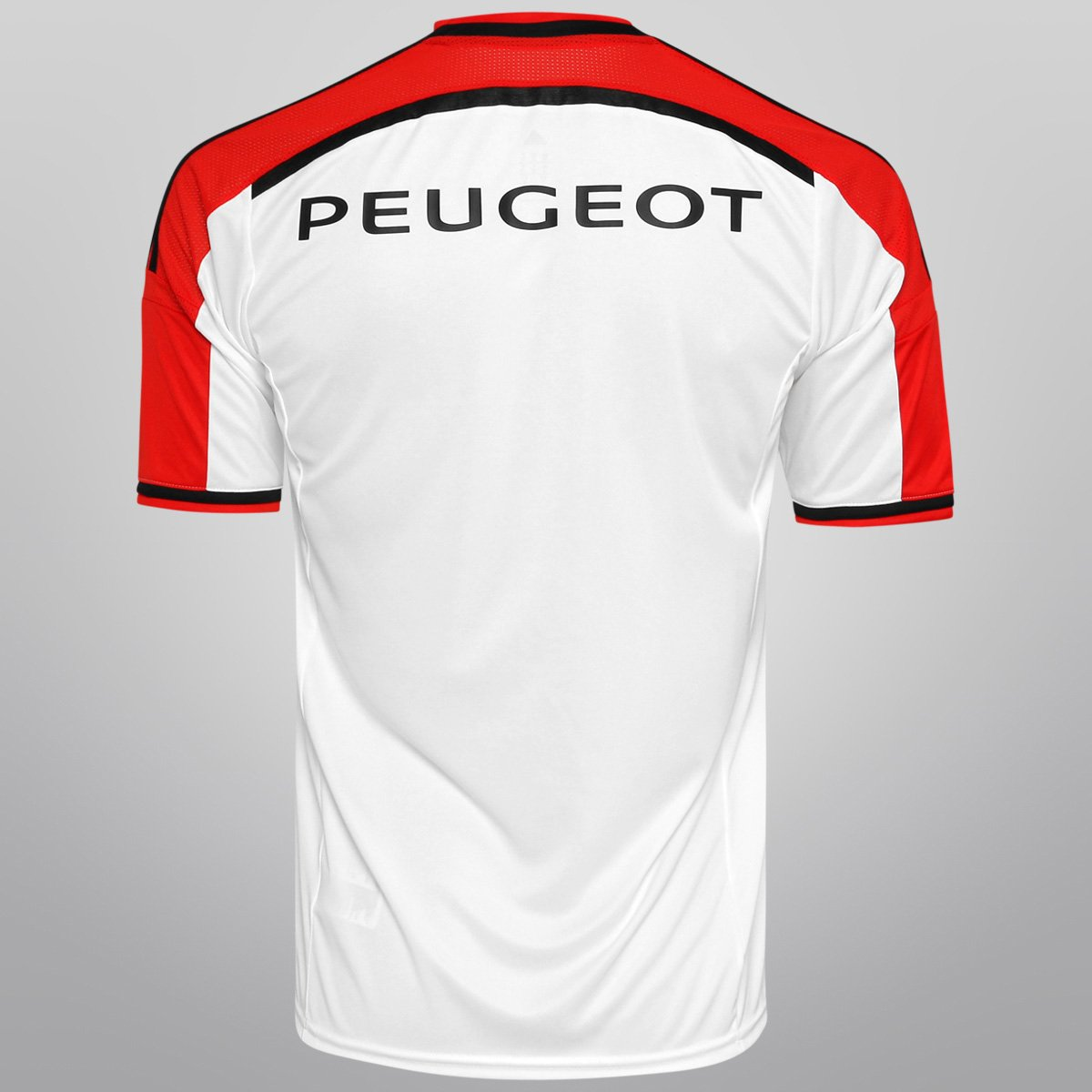 Camisa Adidas Flamengo II 14 15 s nº - Branco e Vermelho - Compre ... d684de9cdac59
