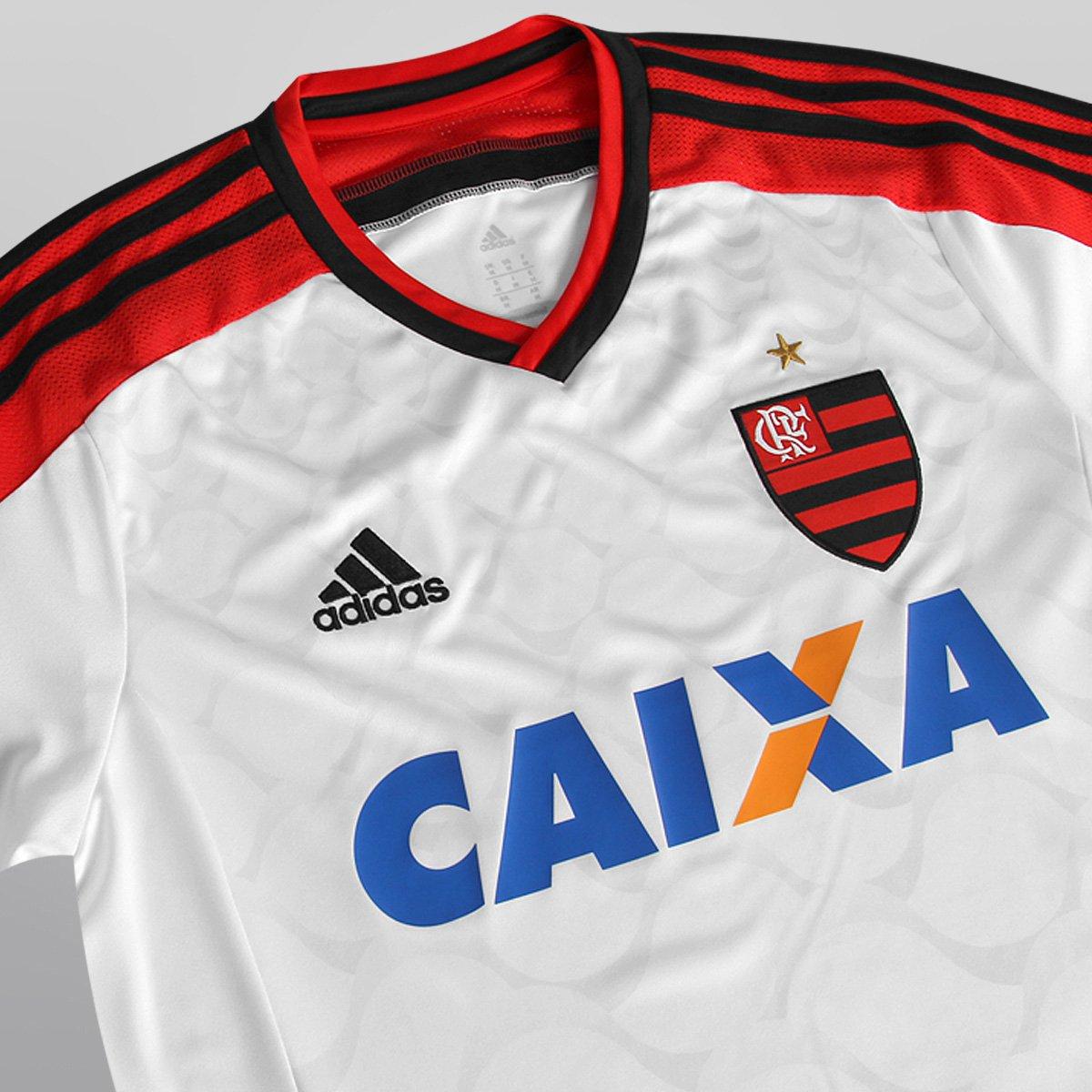 Camisa Adidas Flamengo II 14 15 s nº - Branco e Vermelho - Compre ... 66c912cbebb1d