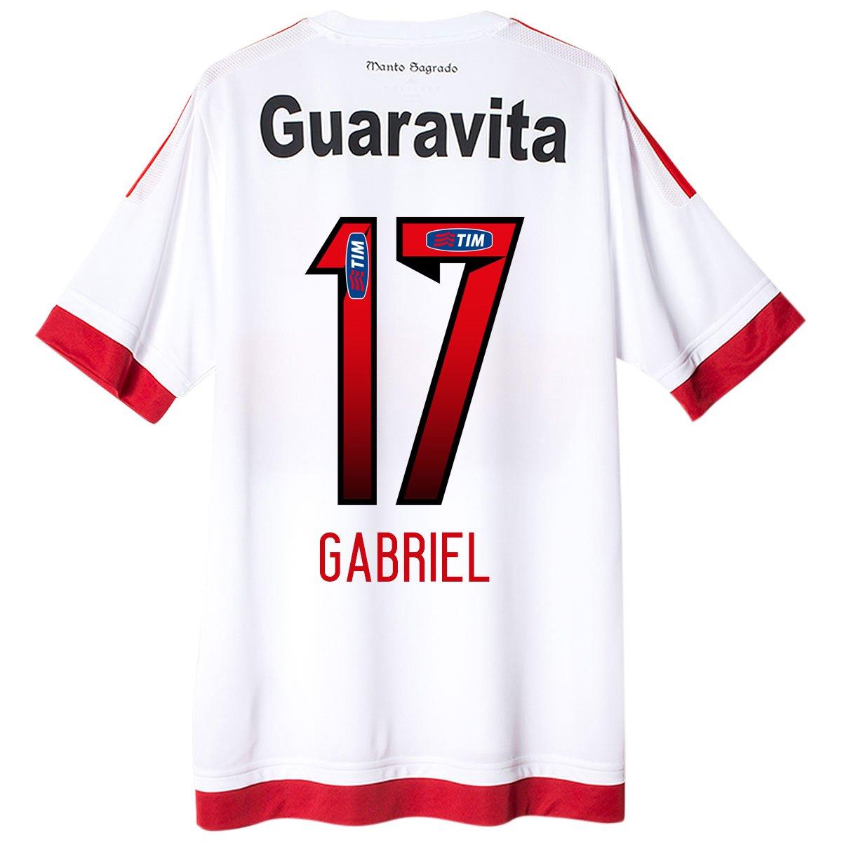 Camisa Adidas Flamengo II 15 16 nº 17 - Gabriel - Compre Agora ... 7950f28d23fdd
