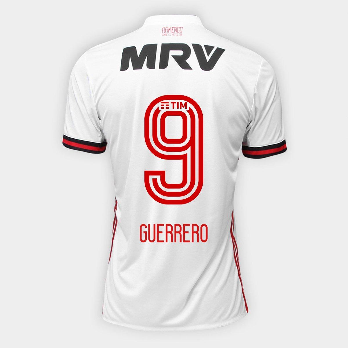 a6aa362538 Camisa Adidas Flamengo II 17 18 N° 9 - Guerrero - Compre Agora ...