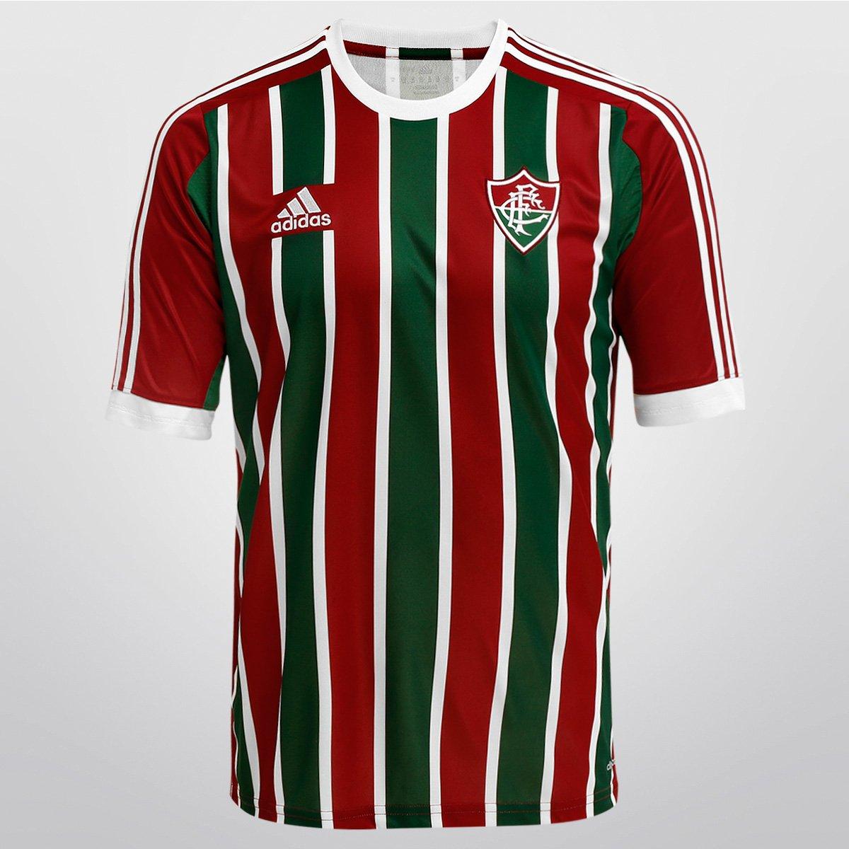Camisa Adidas Fluminense I 2015 s nº - Compre Agora  72fdd098333dc