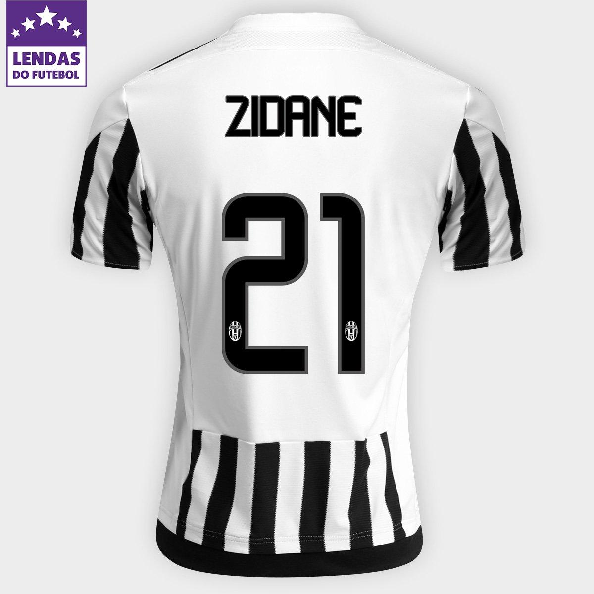 d789486900 Camisa Adidas Juventus Home 15 16 nº 21 - Zidane - Compre Agora ...