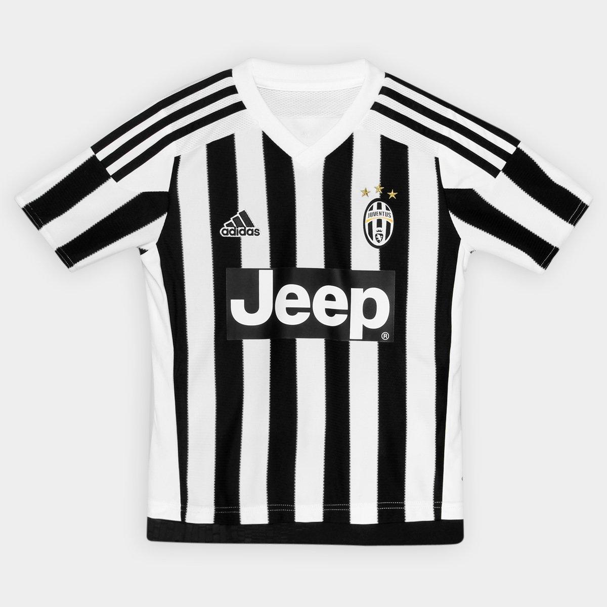 Camisa Adidas Juventus Home 15 16 s nº Infantil - Compre Agora ... 3d28cfe7ec148