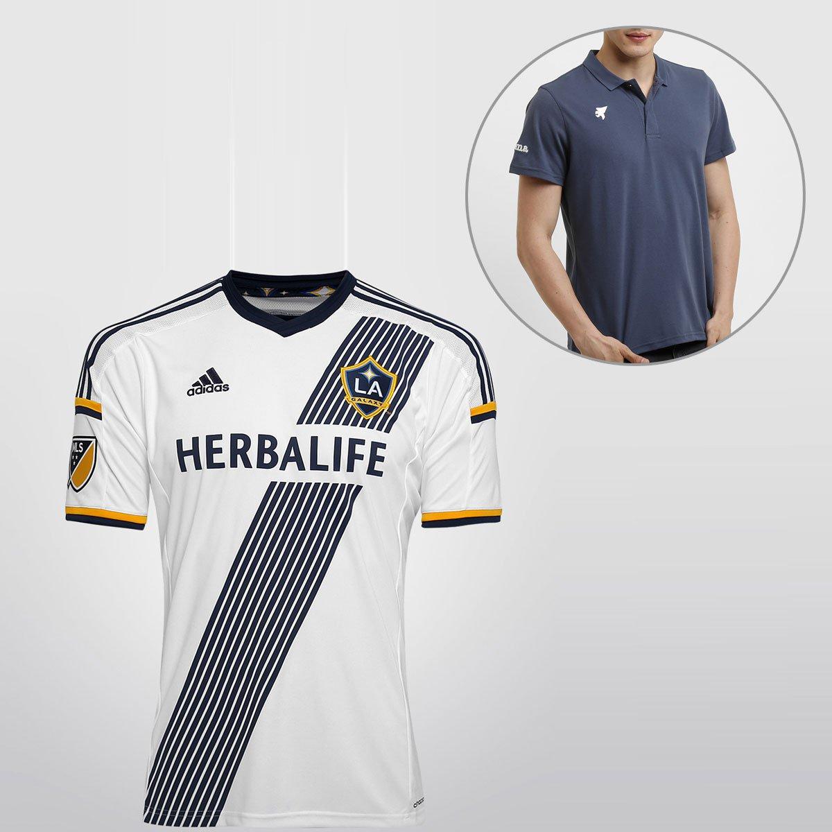 274d880737 Camisa Adidas Los Angeles Galaxy Home 15/16 s/nº + Camisa Polo Joma |  Netshoes