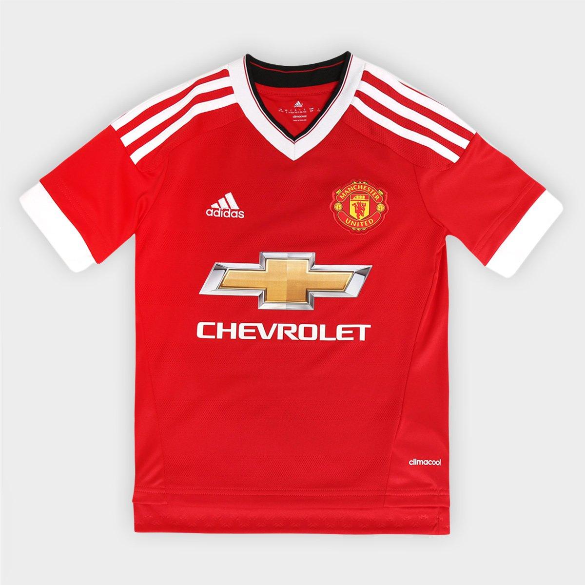 ... Camisa Adidas Manchester United Home 15 16 s nº Infantil - Compre Agora  Netshoes cc6cd7b65572cd ... 68d403a5c50a1