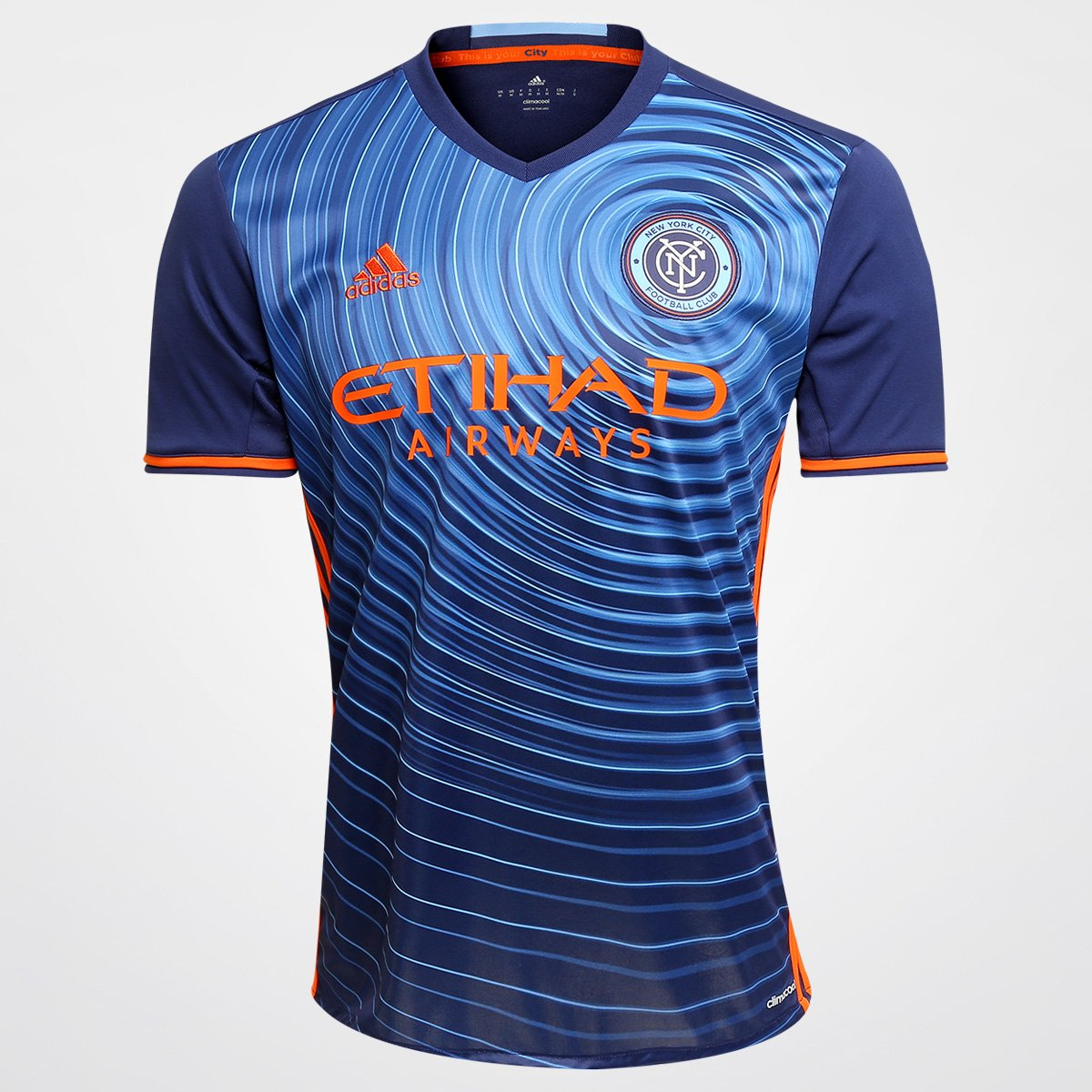 d525615138 Camisa Adidas MLS New York City Away 2016 s nº - Compre Agora
