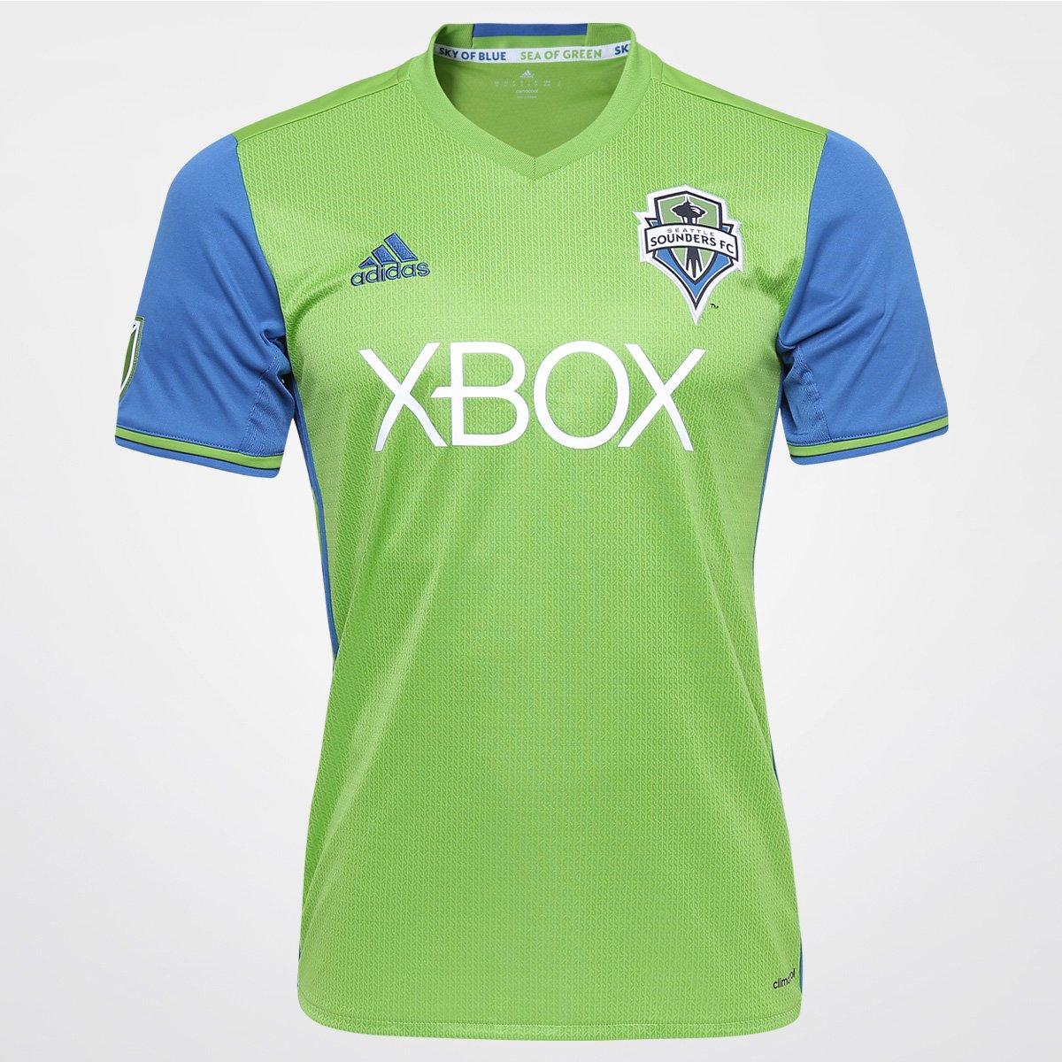 88591471e8 Camisa Adidas MLS Seattle Sounders Home 2016 s nº - Compre Agora ...