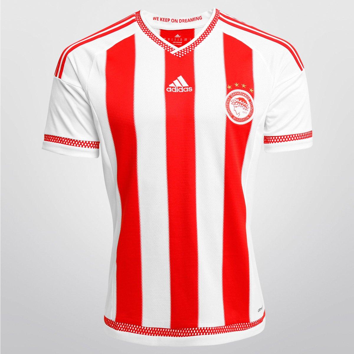 f0e5a6ab7a Camisa Adidas Olympiakos Home 15 16 s nº - Compre Agora