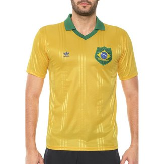 Camisa Adidas Original Brasil Fan Amarela FT6422