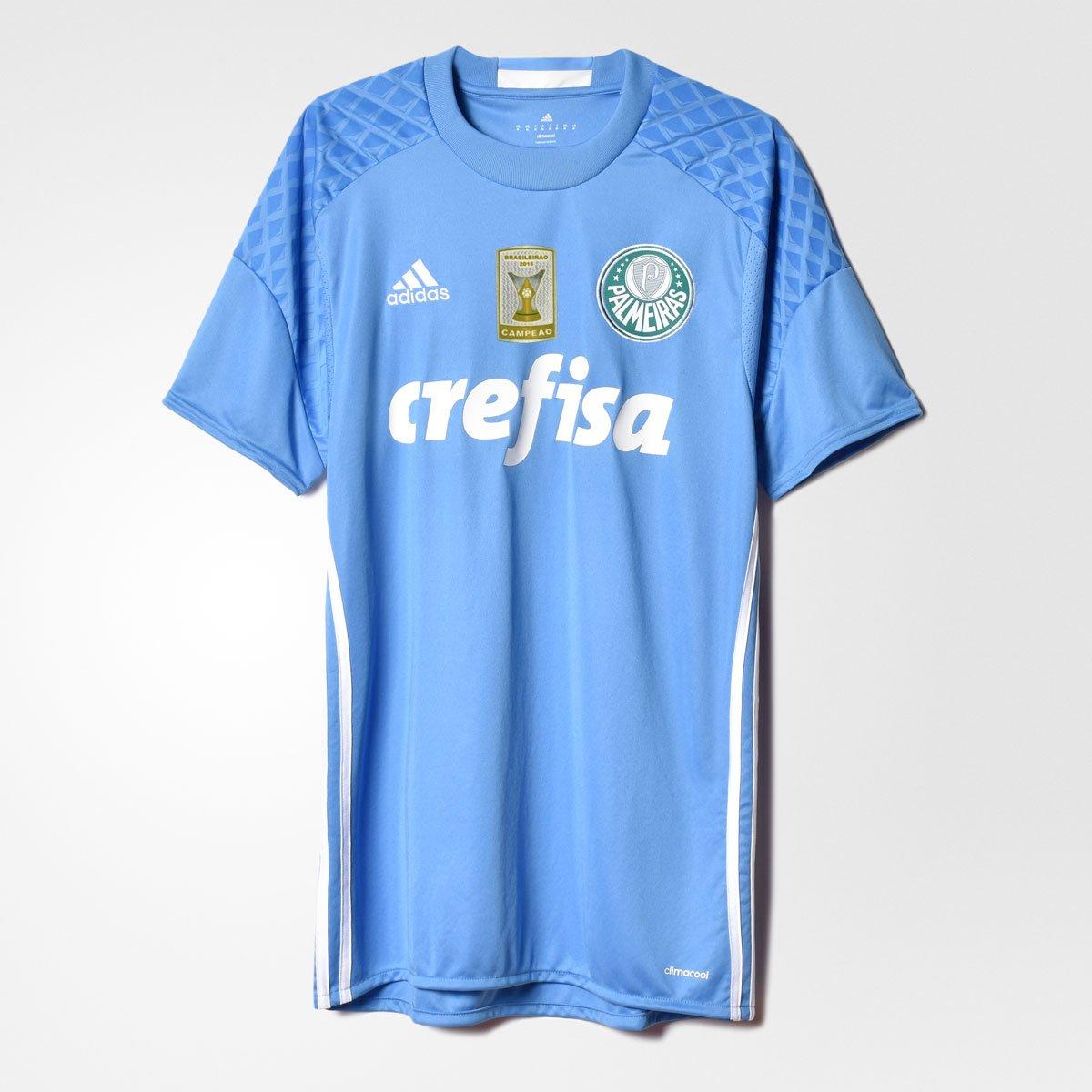 b859d8158f Carregando zoom. Camisa Adidas Palmeiras Goleiro 2016 s nº - Patch Campeão  Brasileiro - Compre Agora