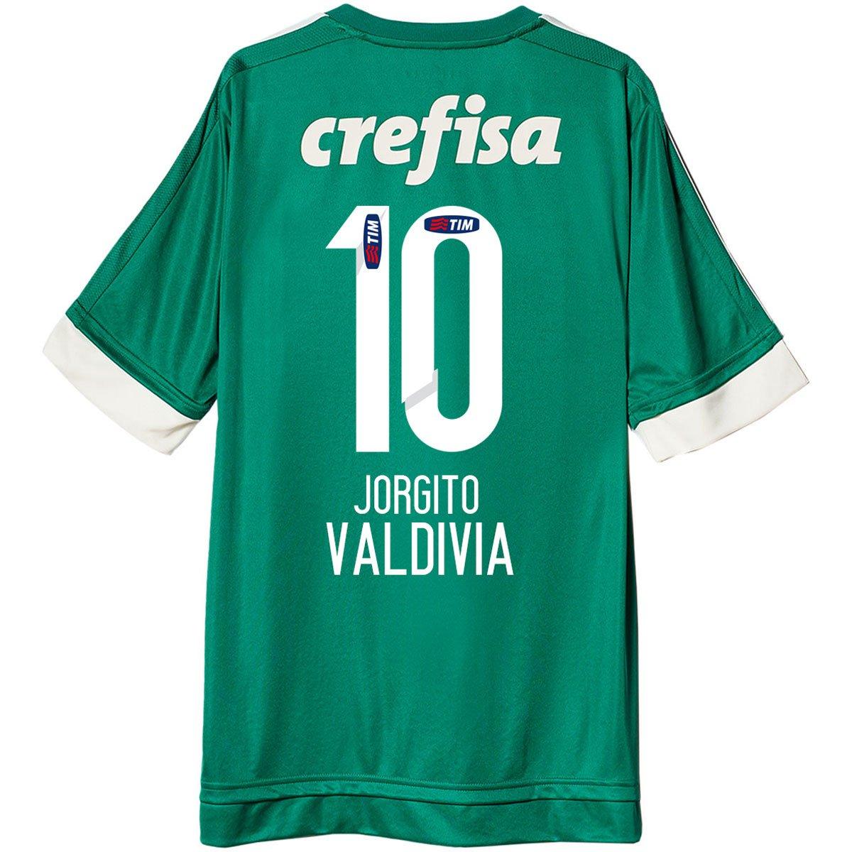 Camisa Adidas Palmeiras I 15 16 nº 10 - Jorgito Valdivia - Compre Agora  fba4c1648ad3b