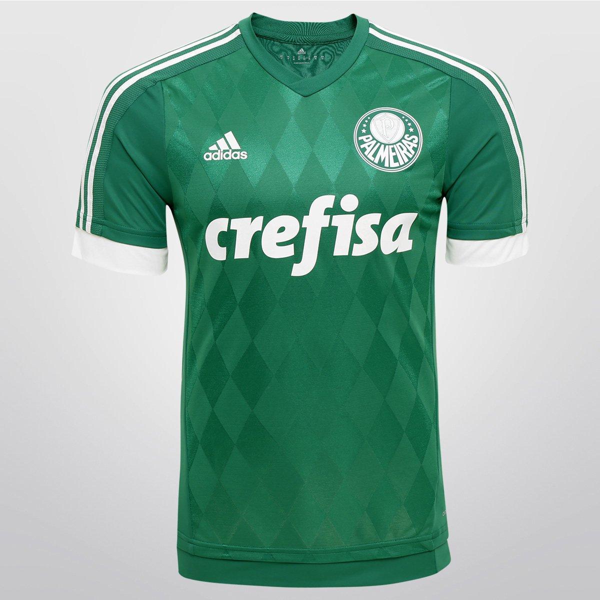 e9f3385b44 Camisa Adidas Palmeiras I 15 16 s nº - Jogador - Compre Agora