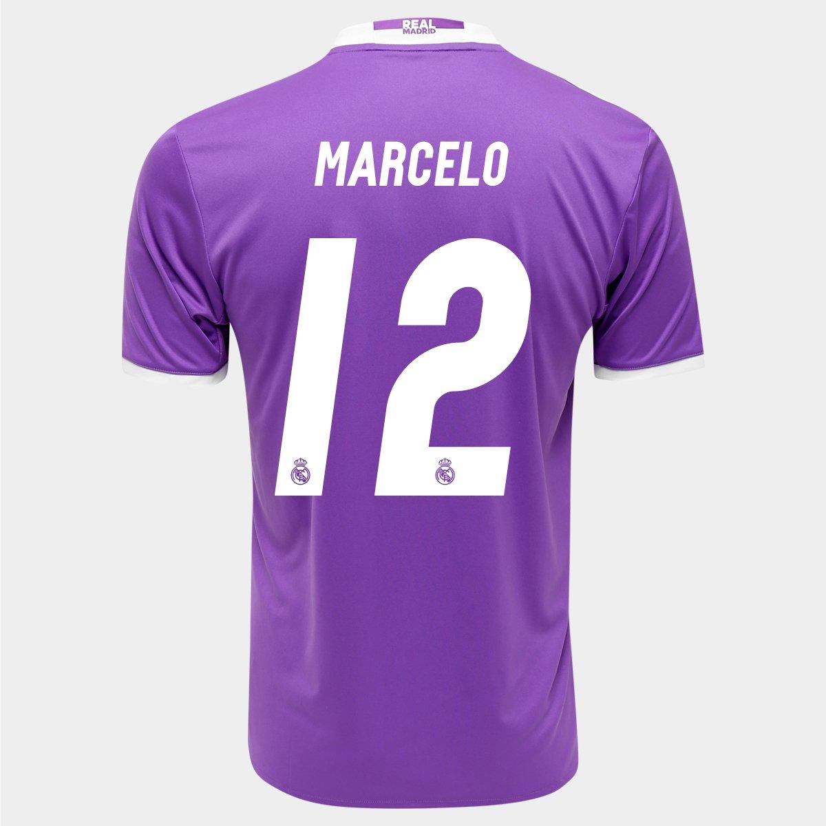 Camisa Adidas Real Madrid Away 16 17 nº 12 - Marcelo - Compre Agora ... 4612e6f9886e4