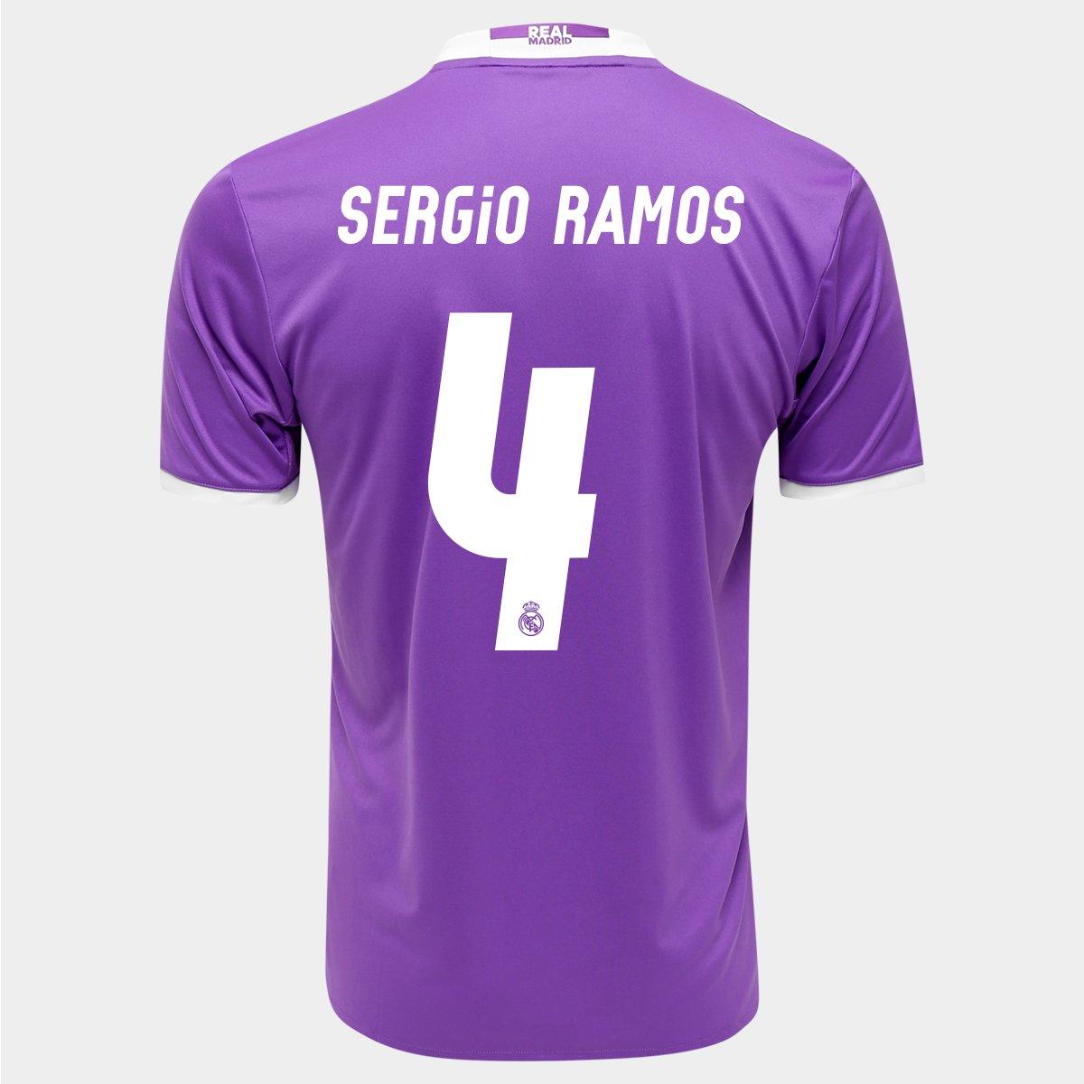 Camisa Adidas Real Madrid Away 16 17 nº 4 - Sergio Ramos - Compre Agora  08990433a0eb5