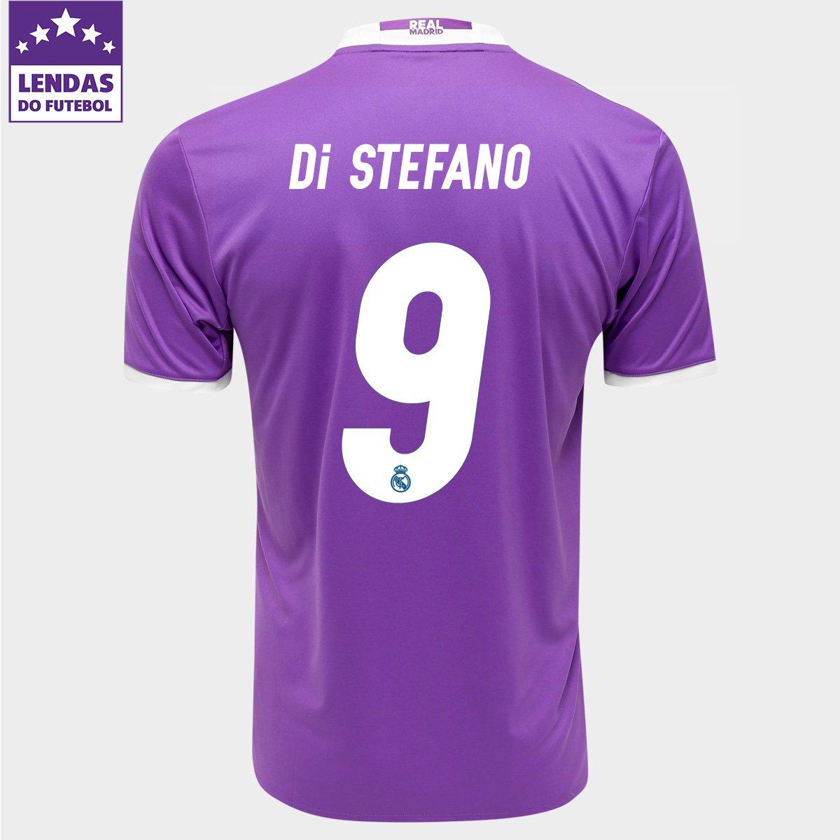 Camisa Adidas Real Madrid Away 16 17 nº 9 - Di Stéfano - Compre Agora  397e9126b82