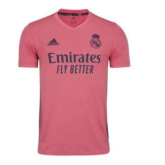 Camisa Adidas Real Madrid Away 20/21 Masculina - Rosa