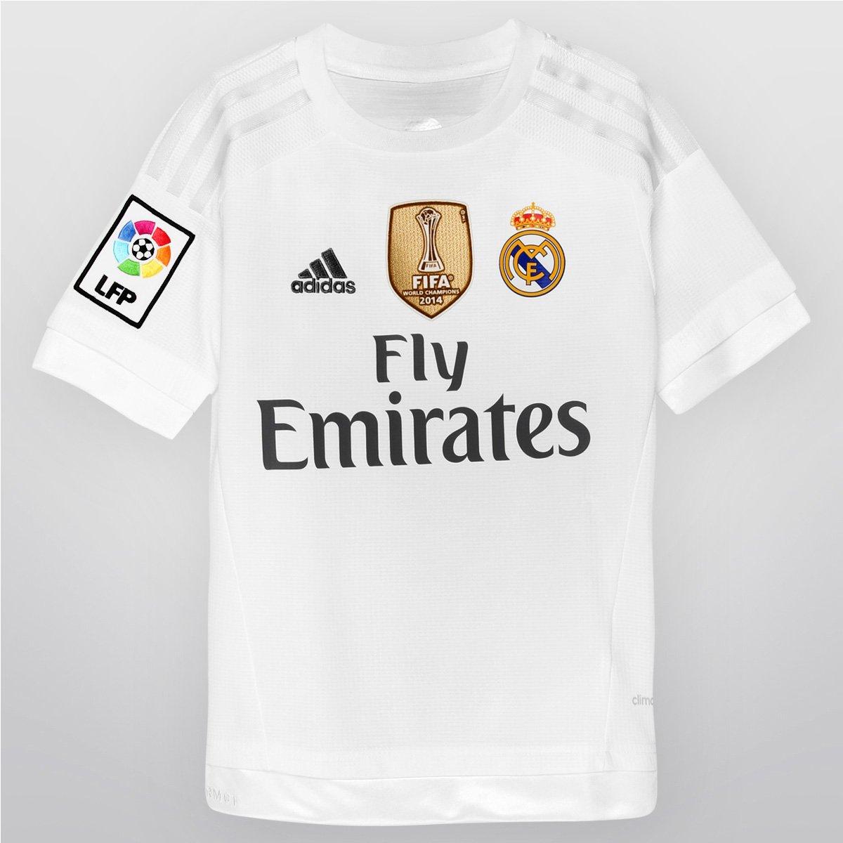Camisa Adidas Real Madrid Home 15 16 s nº Infantil - Compre Agora ... 1b84767e064e1