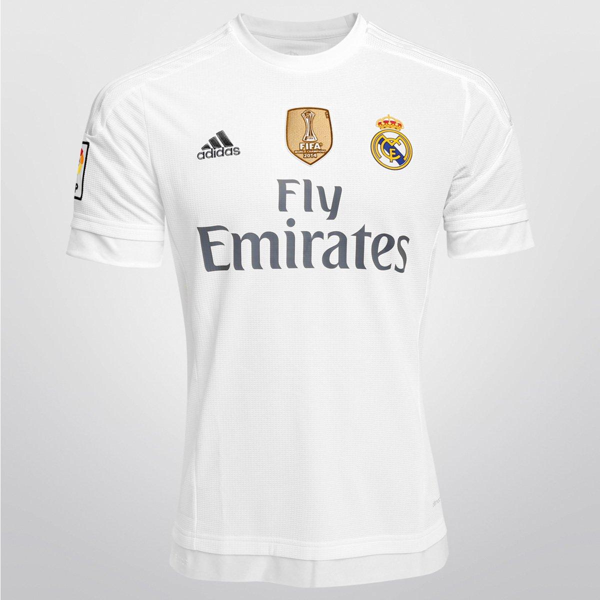 Camisa Adidas Real Madrid Home 15 16 s nº - Patch Mundial - Compre Agora  e4f1dcba2ebe3