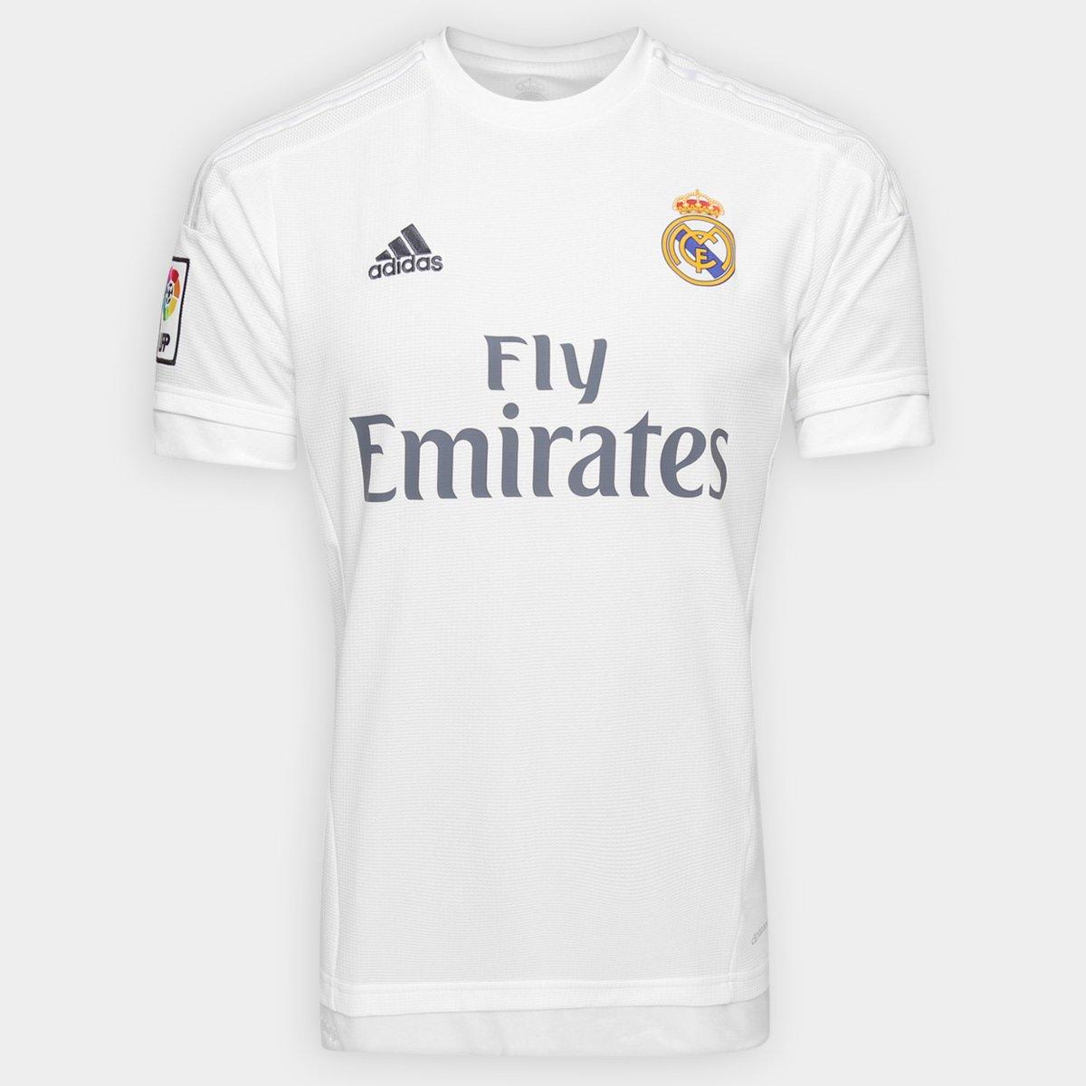2ca4f7ec36726 Camisa Adidas Real Madrid Home 15 16 s nº - Compre Agora
