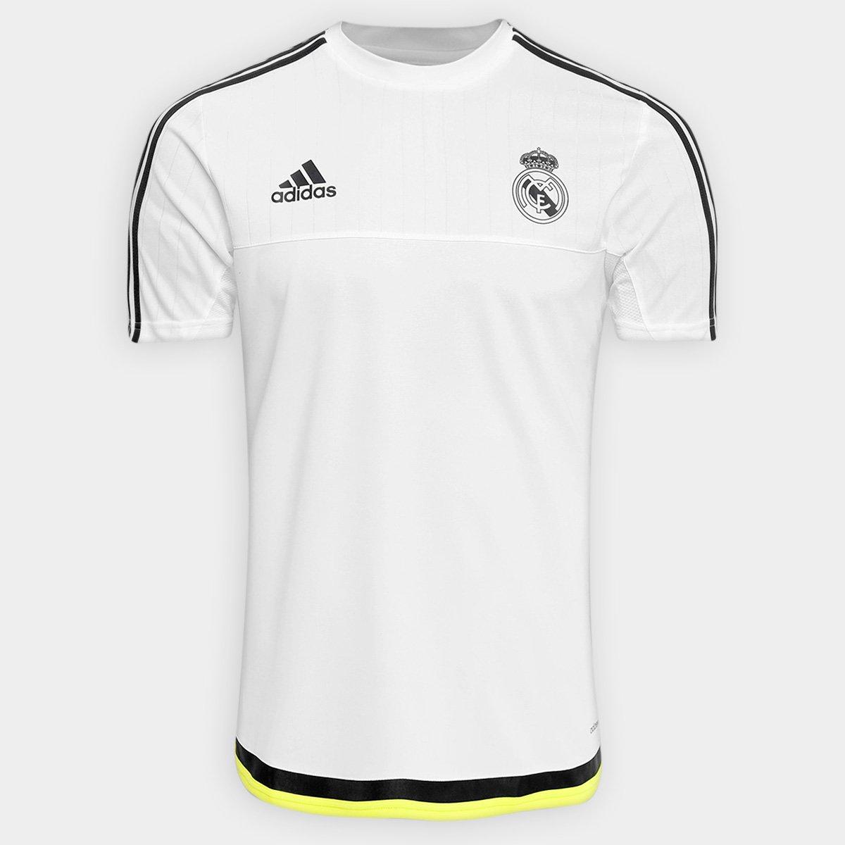 Camisa Adidas Real Madrid Treino 2015 - Compre Agora  a3fd1f6d0cee1