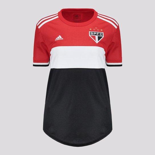 Camisa Adidas São Paulo III 2021 Feminina - Preto