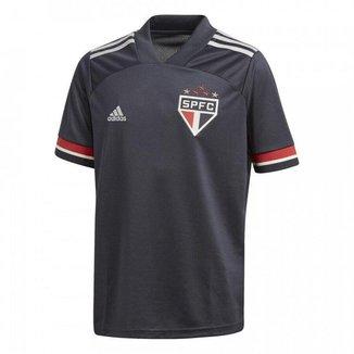 Camisa Adidas São Paulo III 20/21 Infantil - Cinza