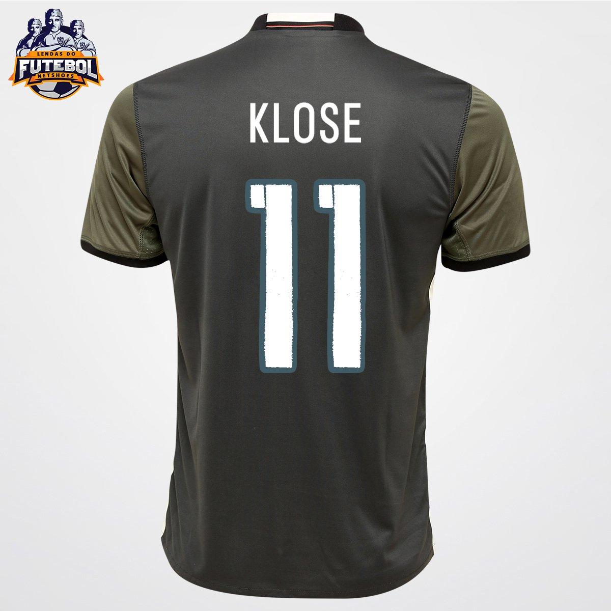 Camisa Adidas Seleção Alemanha Away 2016 nº 11 - Klose - Compre Agora  acf4bf07bb534