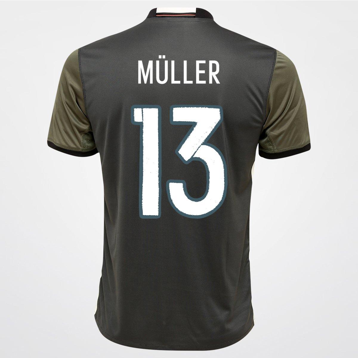 acba342040 Camisa Adidas Seleção Alemanha Away 2016 nº 13 - Müller - Compre Agora
