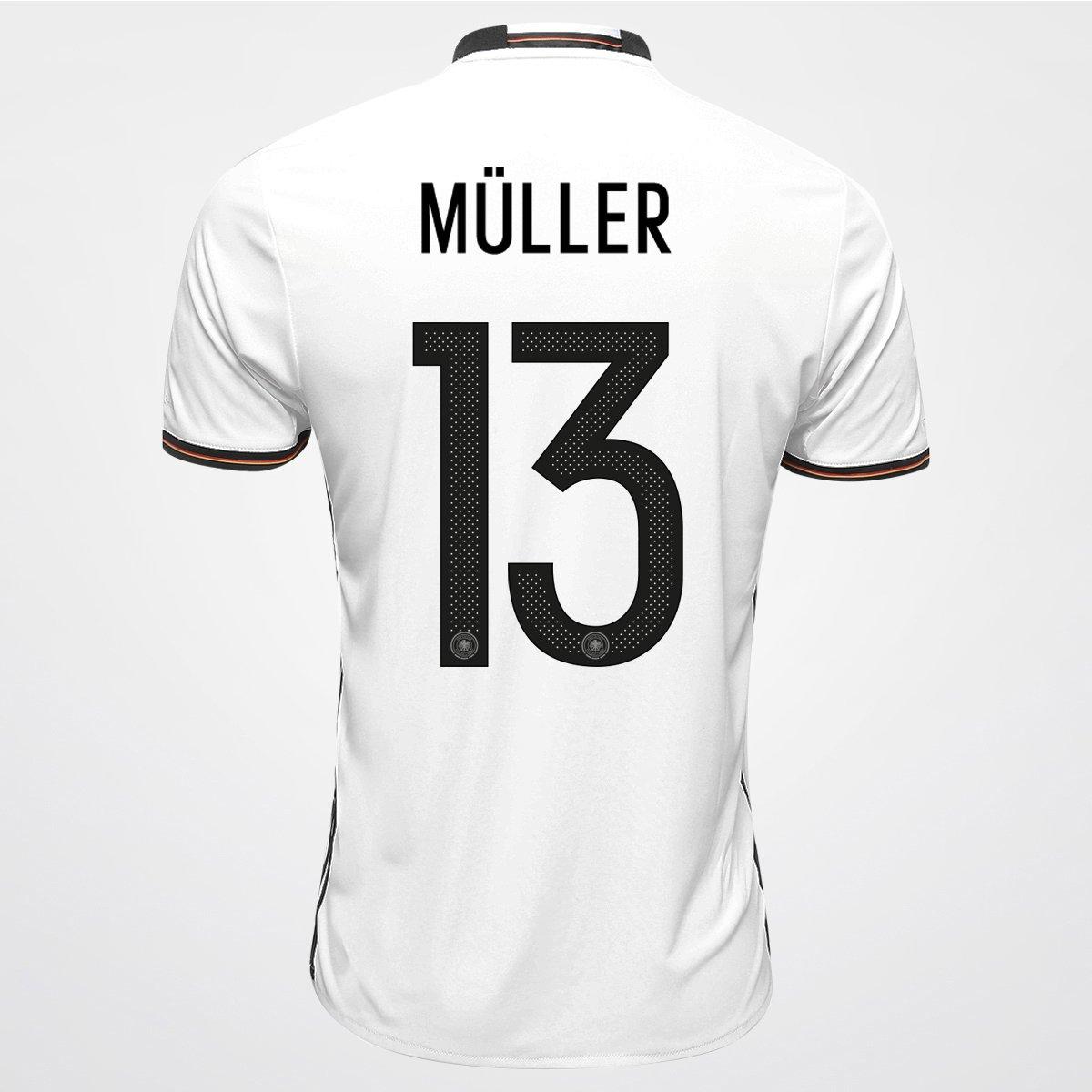 dad191c257 Camisa Adidas Seleção Alemanha Home 2016 nº 13 - Müller - Compre Agora