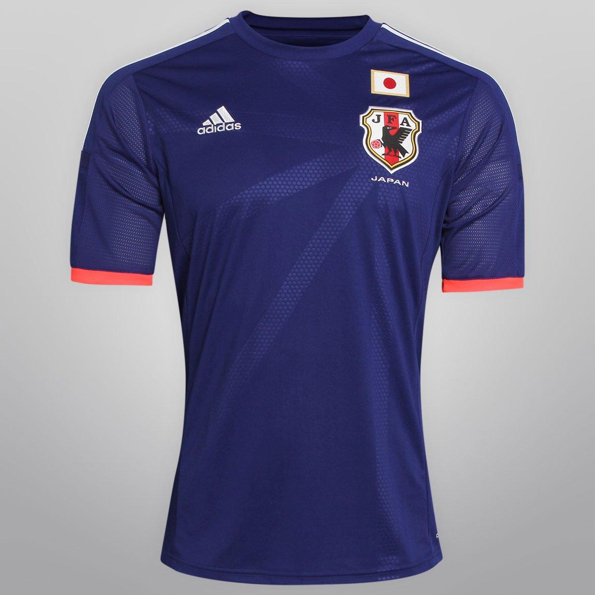 Camisa Adidas Seleção Japão Home 2014 s nº - Torcedor - Compre Agora ... b7f4f42b46e36