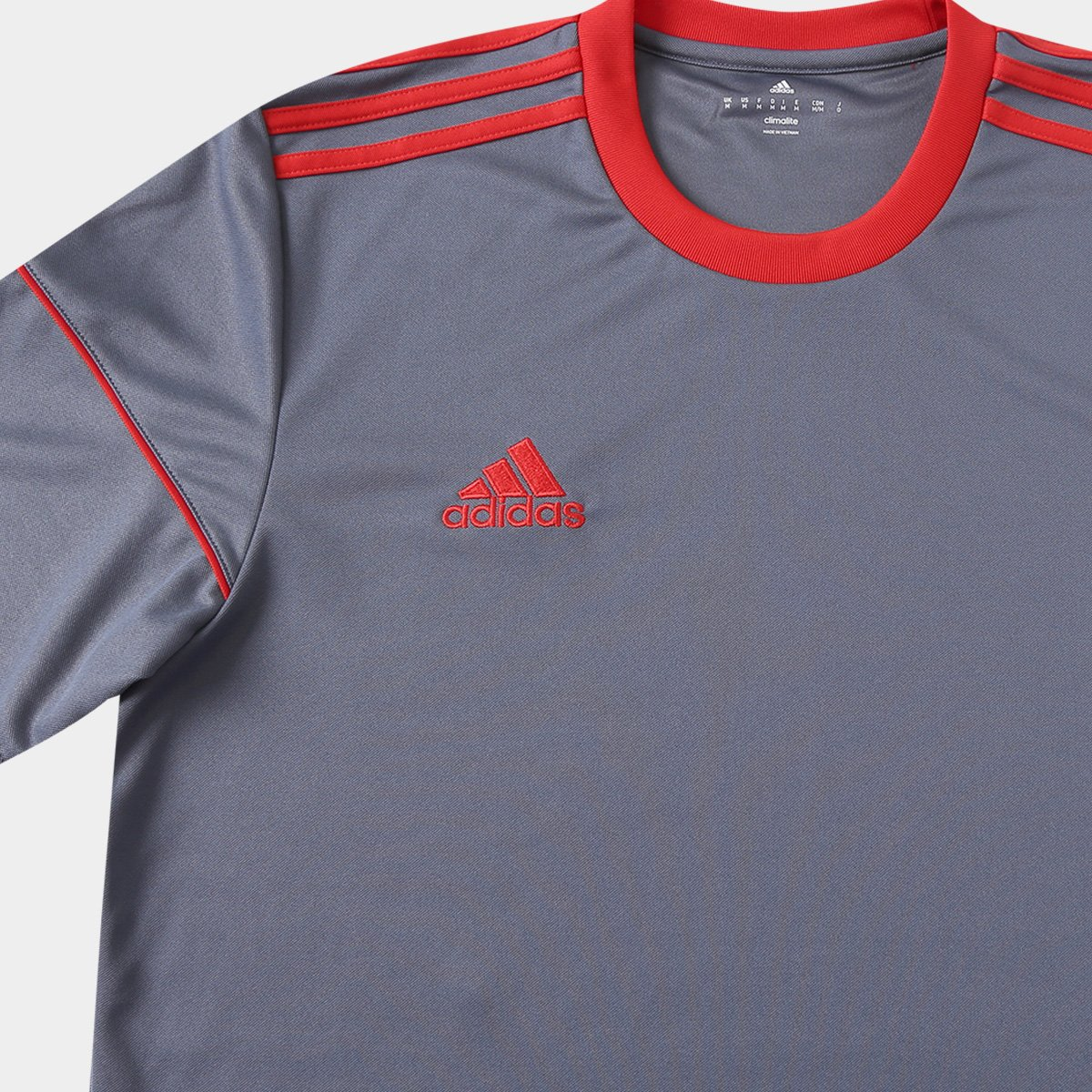 d757a428ae Camisa Adidas Squadra 17 Masculina - Cinza - Compre Agora