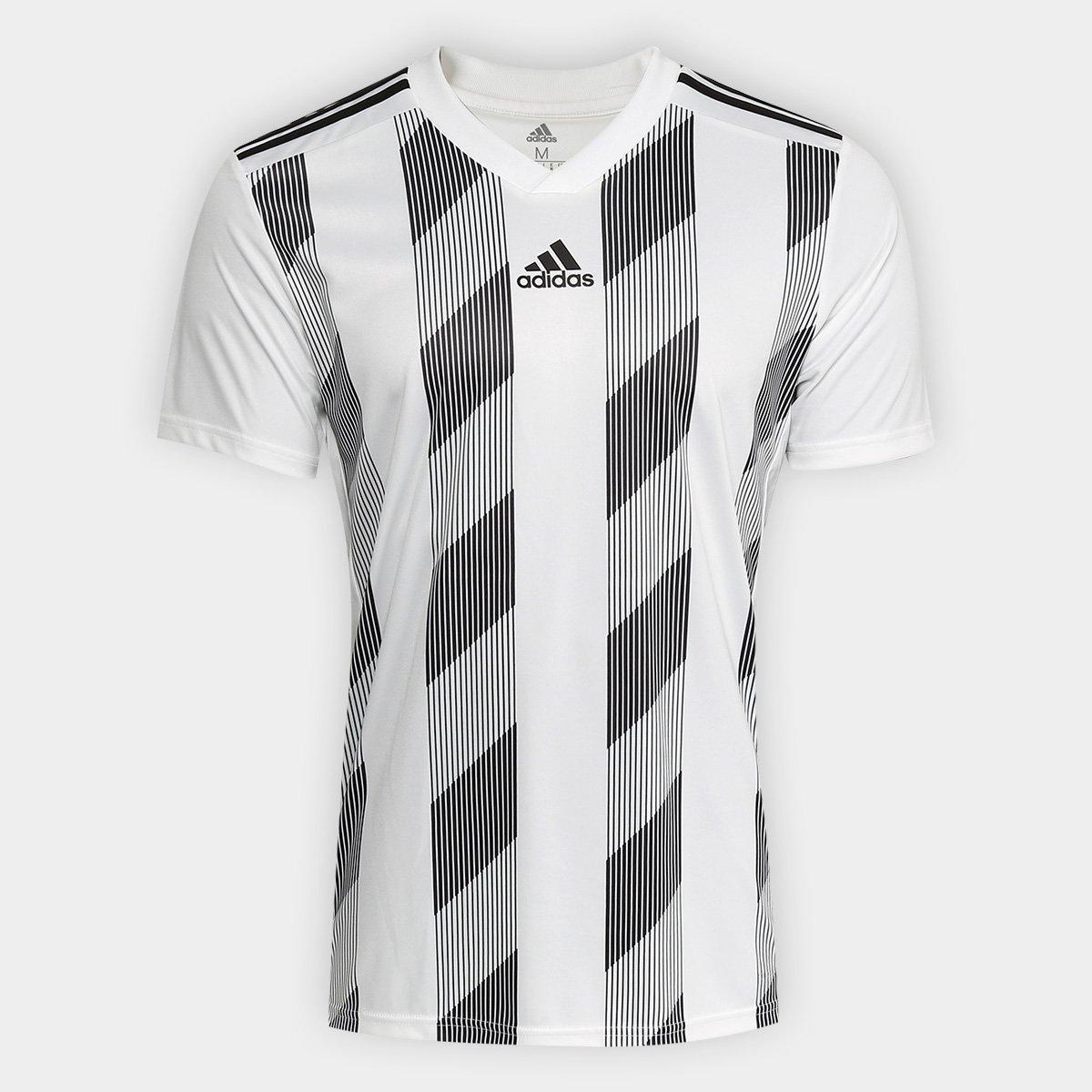 3d0db5261e2f8 Camisa Adidas Striped 19 Masculina - Branco e Preto - Compre Agora ...