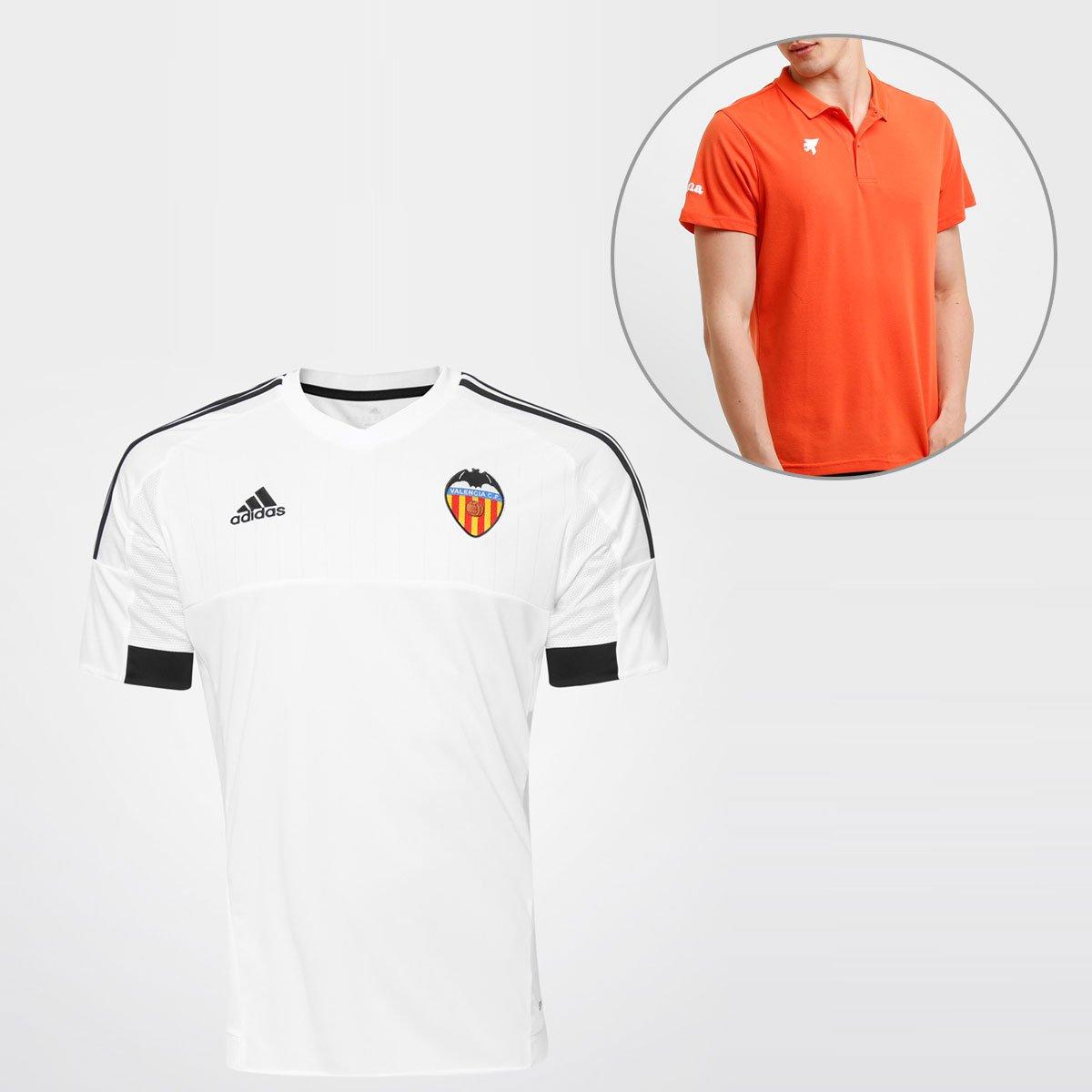 b46dc23e12 Camisa Adidas Valencia Home 2016 s nº + Camisa Polo Joma - Compre Agora